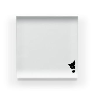 クロネコひょっこりはん Acrylic Block