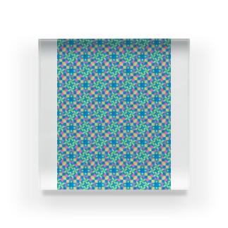 モダンタイルアート  ビビッドカラー  男女兼用 リビング キッチン 文具 雑貨 スマホカバー Acrylic Block