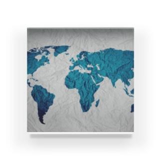 氷と水の世界地図 Acrylic Block