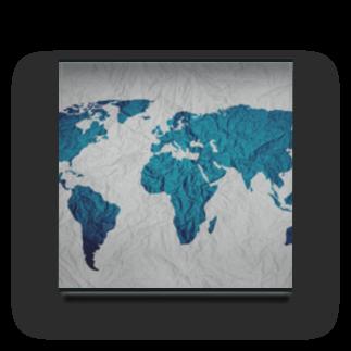Sakura-yuanの氷と水の世界地図 Acrylic Block