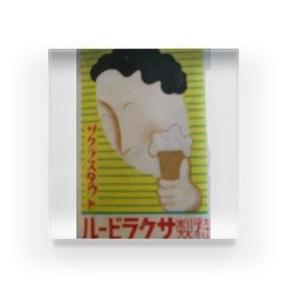 レトロTOKIO さくらBEER Acrylic Block
