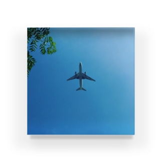 空と飛行機君 Acrylic Block