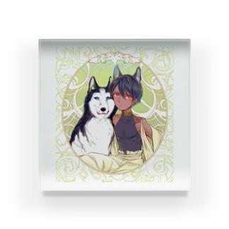 犬と私 Acrylic Block