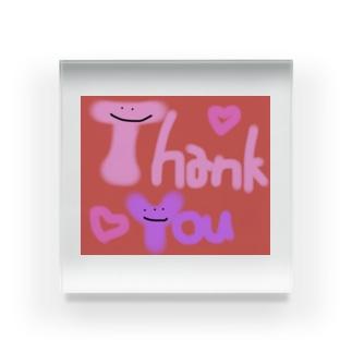 カラフルかわいいシリーズ Thank You Acrylic Block