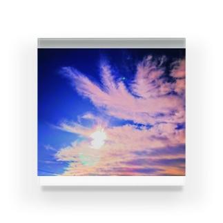 鳳凰様の雲☆朱色 Acrylic Block