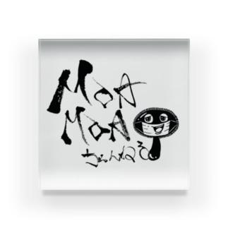 MOAMOAちゃんねるロゴ Acrylic Block