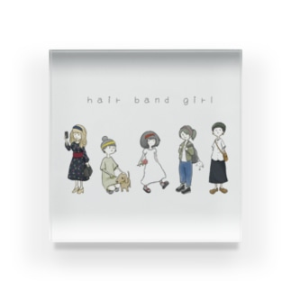 hair band girls Acrylic Block