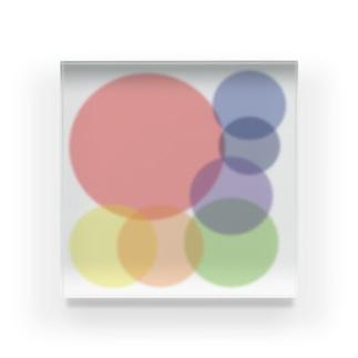 虹色たまたま Acrylic Block