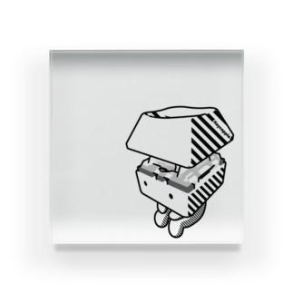 お座りキーキャッピー モノトーン Acrylic Block