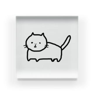 ぶちゃ猫のサンミー Acrylic Block
