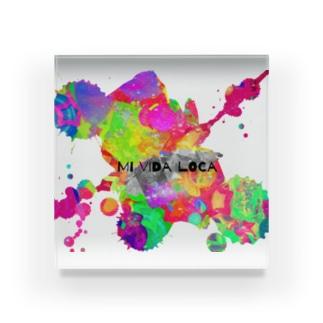 Mi Vida Loca 飛沫 Acrylic Block