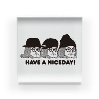 王様 Have a Nice Day! Acrylic Block