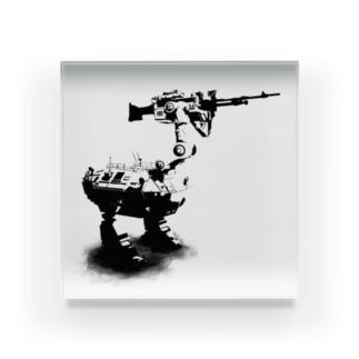 cassowary(ロゴなしモノクロロボットのみ) Acrylic Block
