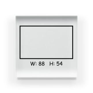 長方形 Acrylic Block