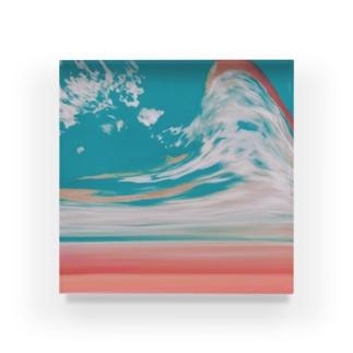 夕焼けと空の分岐点 Acrylic Block