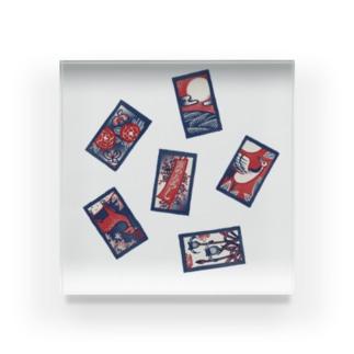 【日本レトロ#30】花札 Acrylic Block