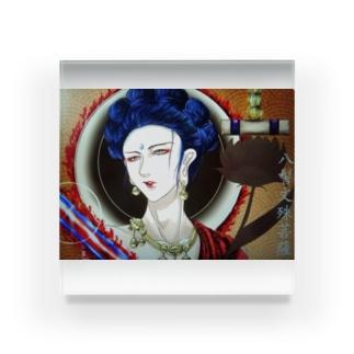 一次創作仏画/八髻文殊菩薩・アクリルボックス Acrylic Block