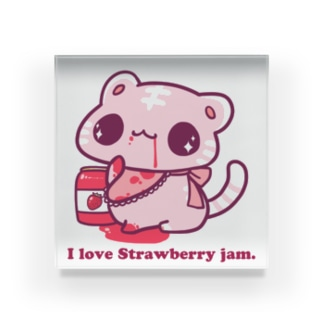 I love Strawberry jam. Acrylic Block