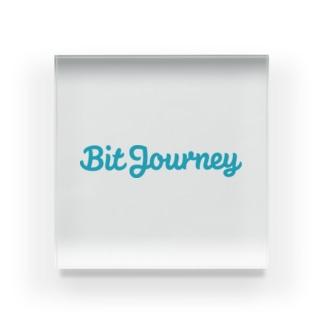 Bit Journeyロゴ Acrylic Block