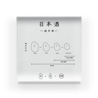 日本酒〜純米酒ver〜 Acrylic Block