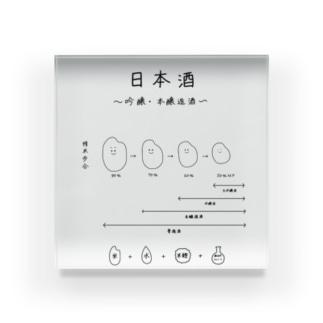日本酒〜吟醸・本醸造酒ver〜 Acrylic Block