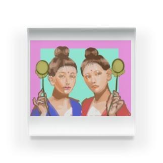 月光菩薩ちゃんと日光菩薩ちゃん Acrylic Block