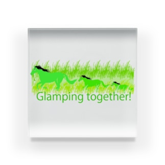 Glamping together! Acrylic Block