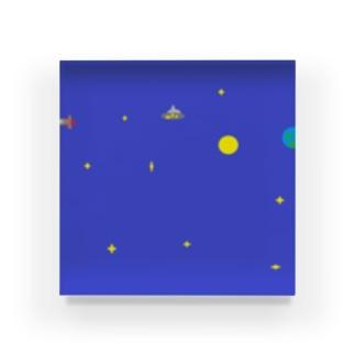 宇宙で見つけたUFO Acrylic Block