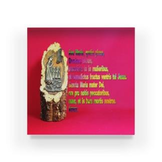 アヴェ・マリアの祈祷文  Hail Mary / Ave Maria Acrylic Block
