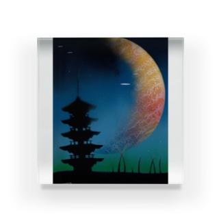 五重塔&UFO Acrylic Block