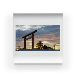 夕日 Acrylic Block