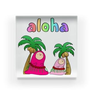 ALOHA - アロハ Acrylic Block