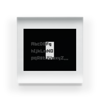 hachi08のAtoZシリーズ Acrylic Block