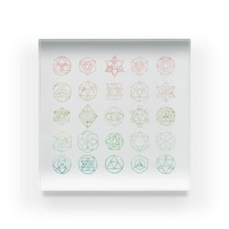 幾何学 Acrylic Block