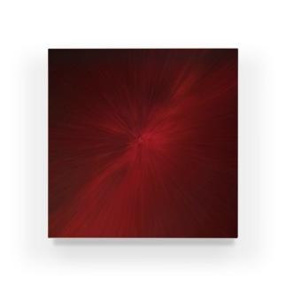 放射状 赤 Acrylic Block