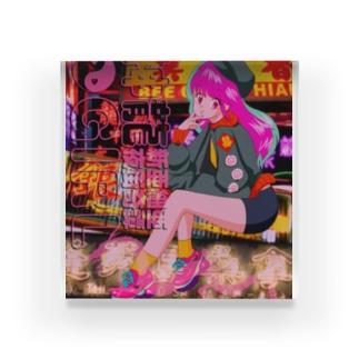 架空の90年代アニメ Acrylic Block
