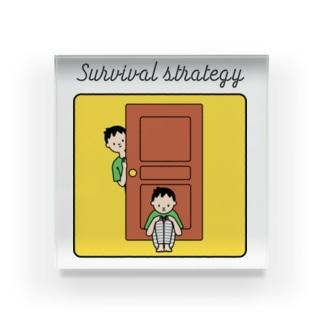 生存戦略中のあなたのためのステッカー Acrylic Block