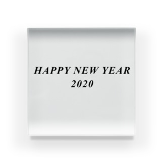 HAPPY NEW YEAR 2020 Acrylic Block