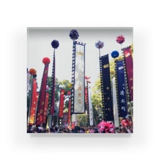 播州姫路英賀神社幟練 Acrylic Block