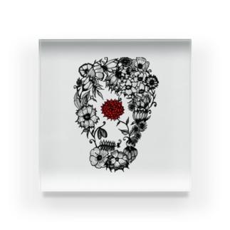 スカルフラワー Acrylic Block