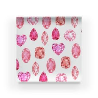 赤い宝石 Acrylic Block