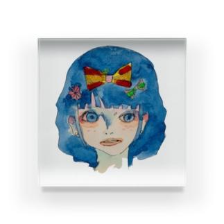 憂鬱。雪白姫。 Acrylic Block