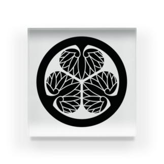 家紋(徳川家 葵) Acrylic Block