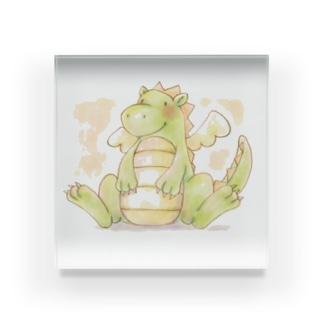 tosibouの可愛い恐竜 Acrylic Block