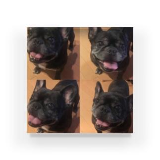 愛の実存はお犬に宿る Acrylic Block