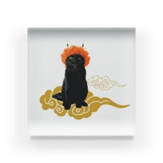 【C】赤鬼さんと金雲 Acrylic Block