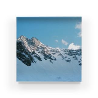 雪の峰 Acrylic Block