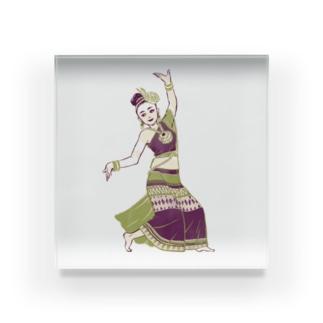 【タイの人々】伝統舞踊のダンサー Acrylic Block