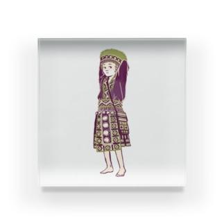 【タイの人々】モン族の女の子 Acrylic Block