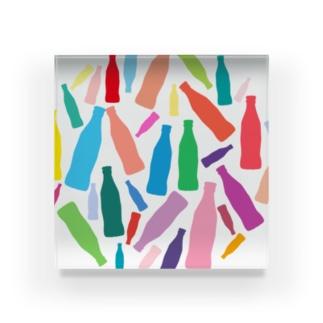 カラフルなコーラのグッズ Acrylic Block